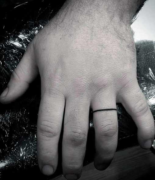 black line finger tattoo designs for guys