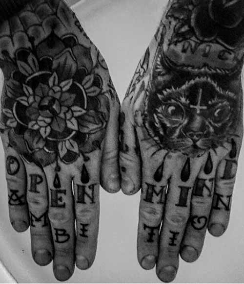 meaningful tattoos on fingers for guys