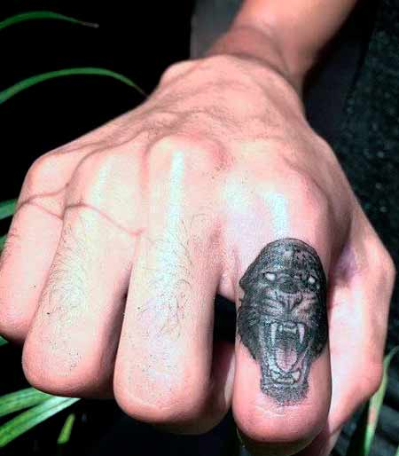 small pantera finger tattoo ideas picture