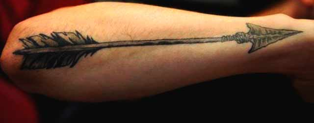 long arrow tattoo designs for guys