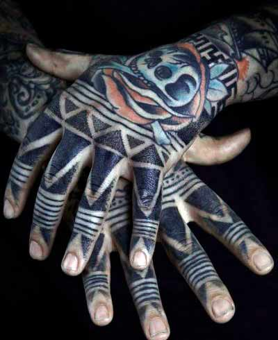 colourful cool finger tattoos for men in 2021