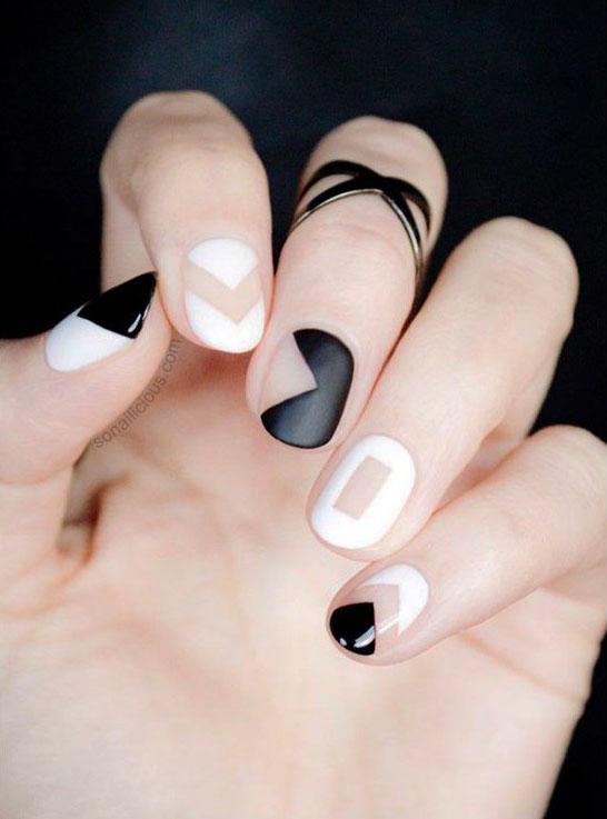 black and white nails natick