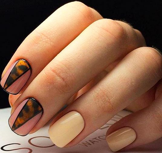 geometric nail art design images