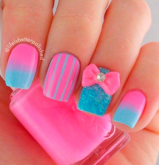 Fabulous Collection of Pink Nail Designs