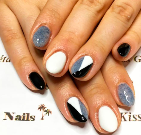 simple geometric nail designs images