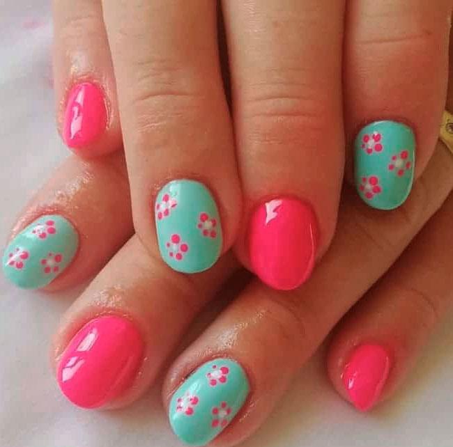 olive green nails design images