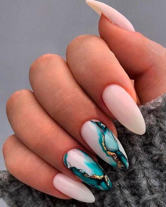 winter coffin nails design for women