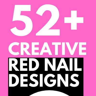 CREATIVE RED NAIL DESIGNS