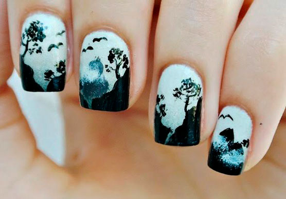 nail art simple designs black images