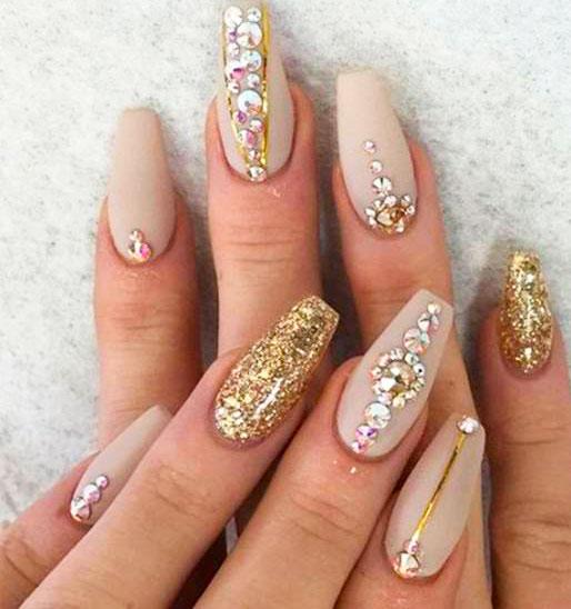 long stiletto nails art in 2021