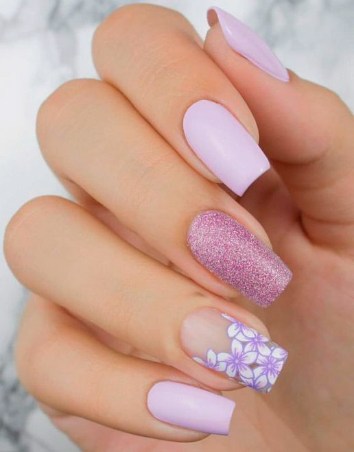 best white acrylic nails with design