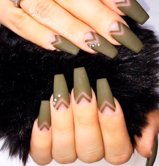 nude nails coffin design images