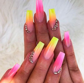 Get inspired to create your own ombre nails with these French fades