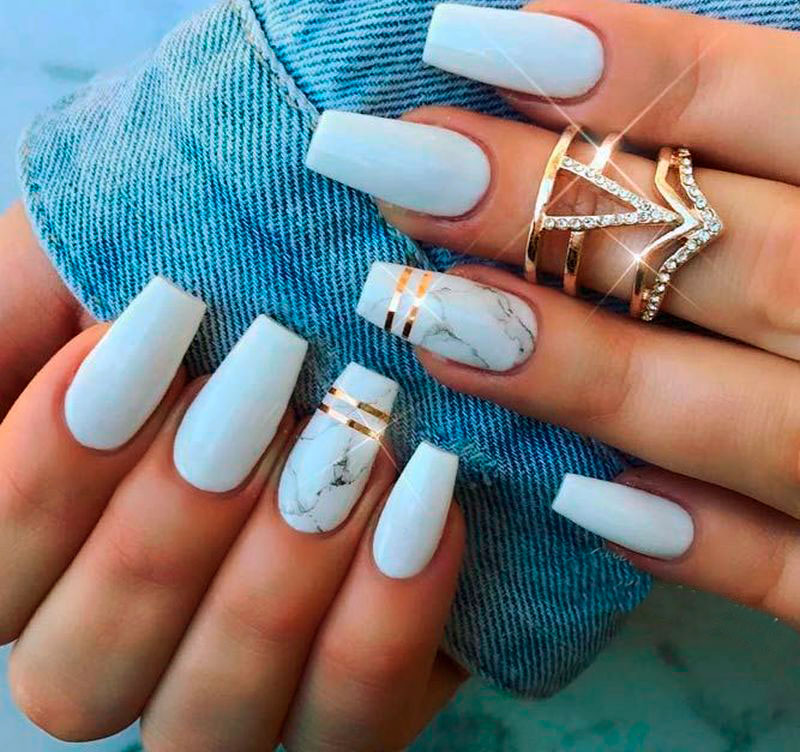 best cute coffin shaped nails