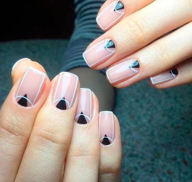 geometric design nails
