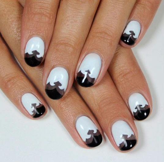 nail art designs in black and colors