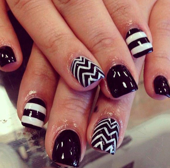 acrylic coffin nails design images