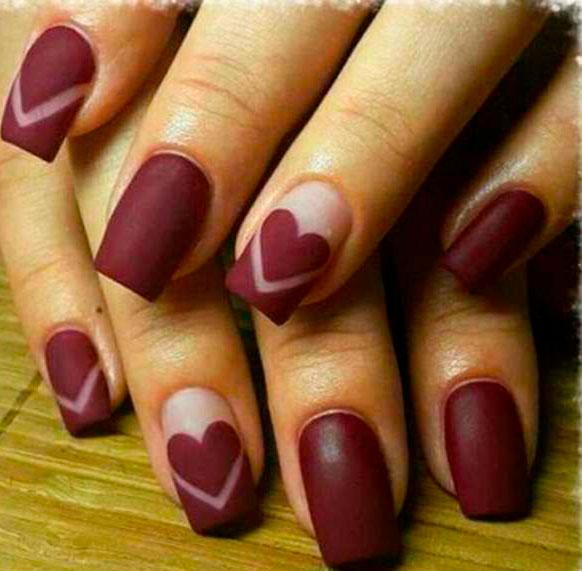medium square nails images
