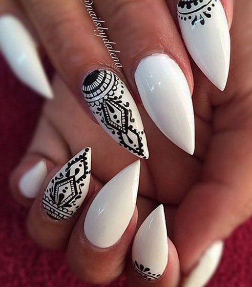 mandala nails design images