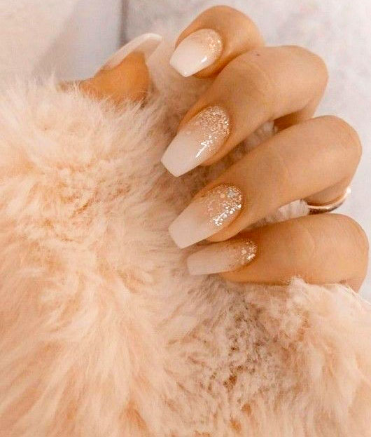 trendy simple nail designs coffin
