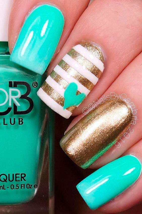 shades of green nails