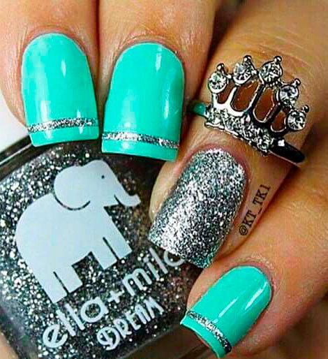 green nails pinterest images