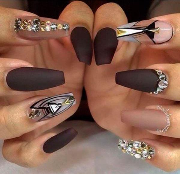 cute long acrylic nails