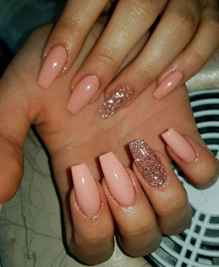 cute basic acrylic nails images