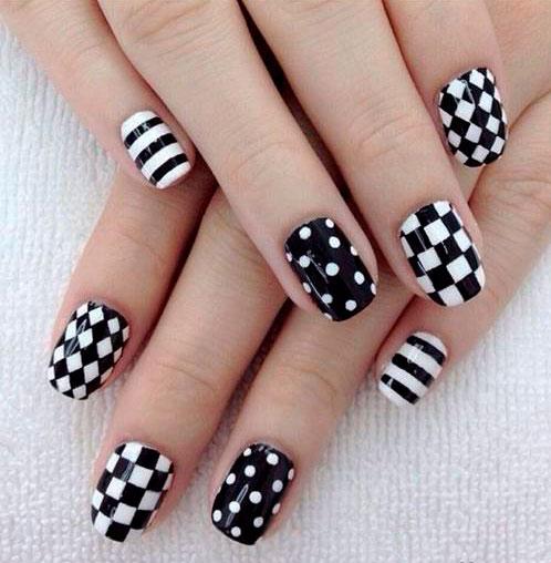 chess nail design art images