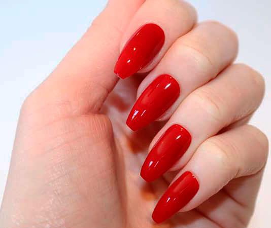 red long nail designs