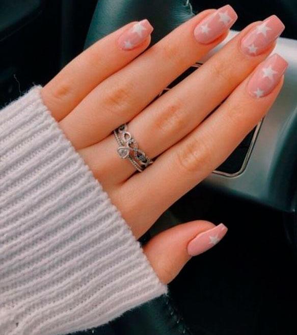 cute acrylic coffin nails