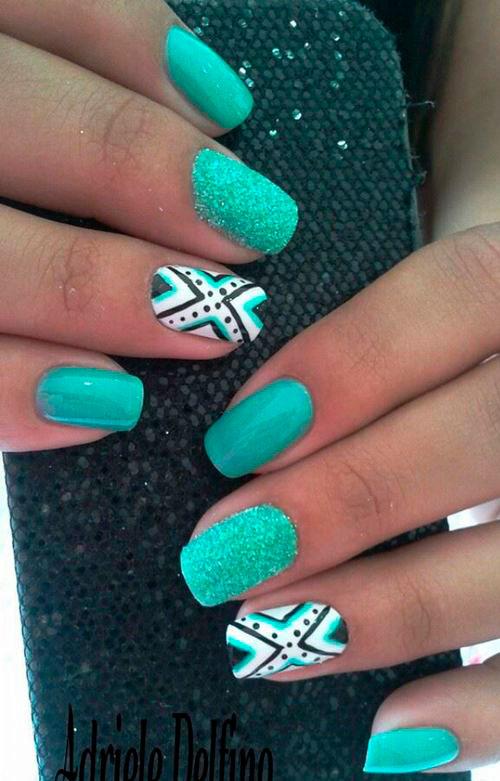 top green mint nail polish