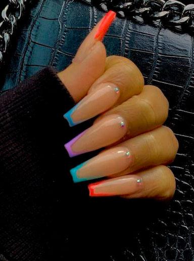 acrylic matte nails