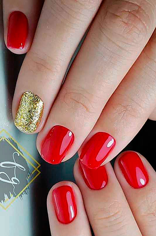 Creative and Lovely Red Acrylic Nail Designs ideas