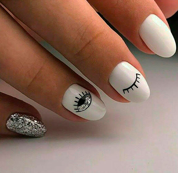 Popular Rounded Nail Art Designs