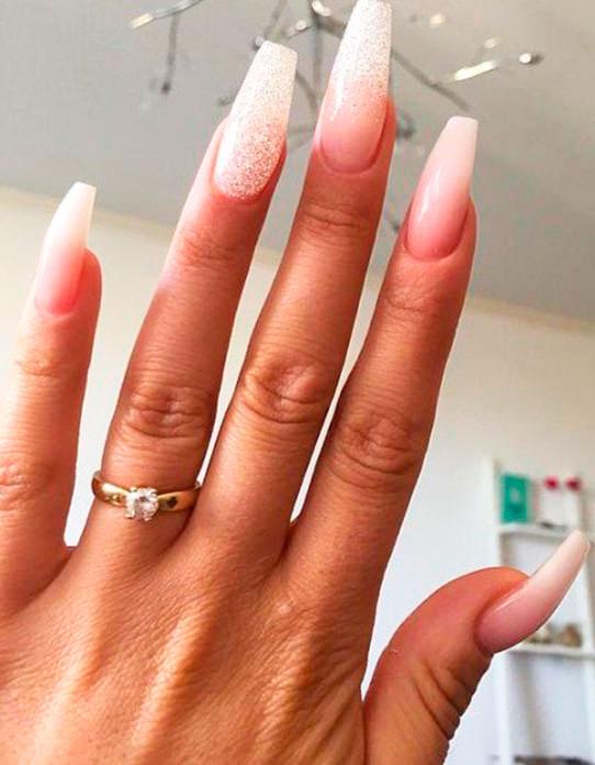 cute acrylic nails coffin