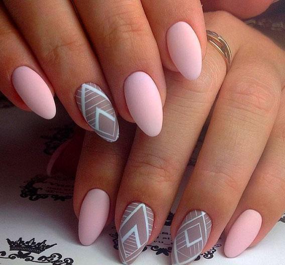 geometric shapes nail art