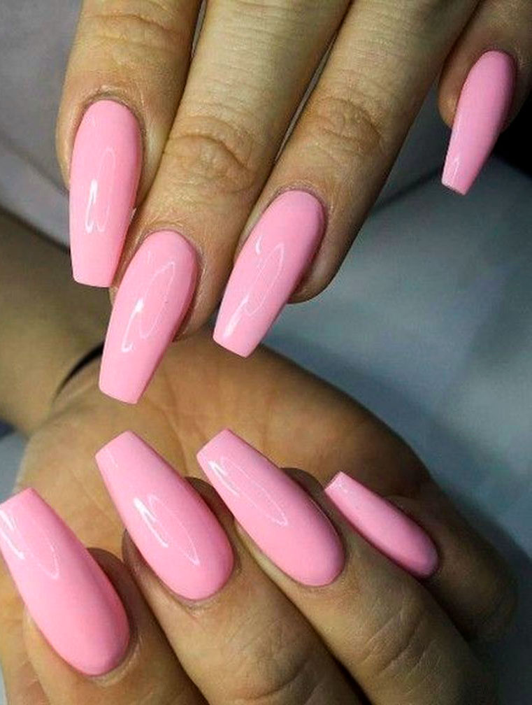 rose cute easy acrylic nails picture