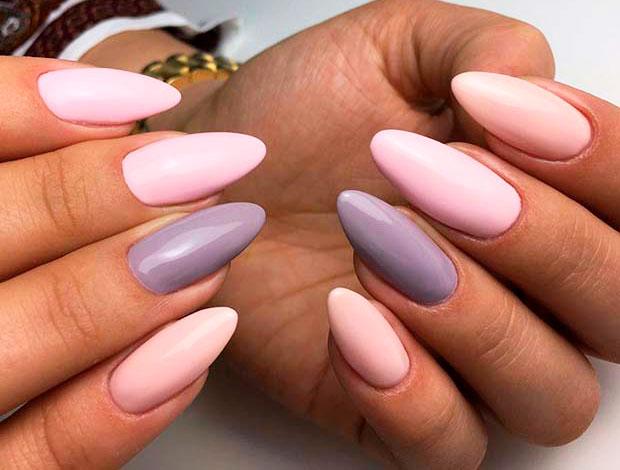 pink colour nail polish