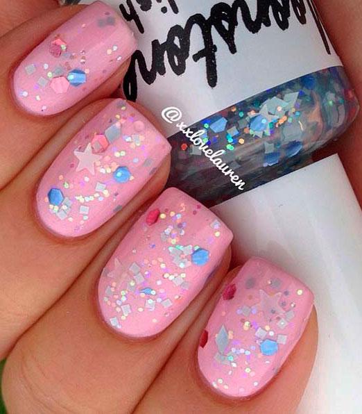 pink nail design ideas