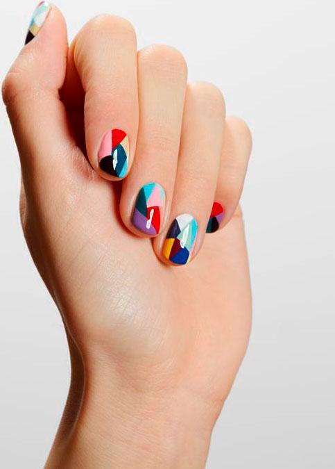 rainbow color nail art