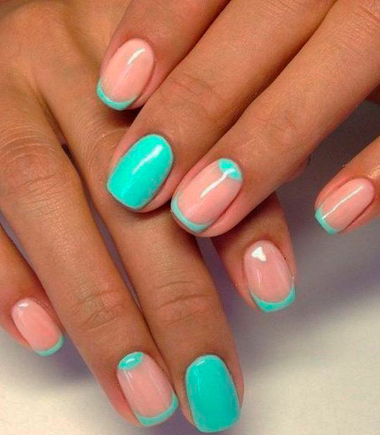 neon mint green nail polish