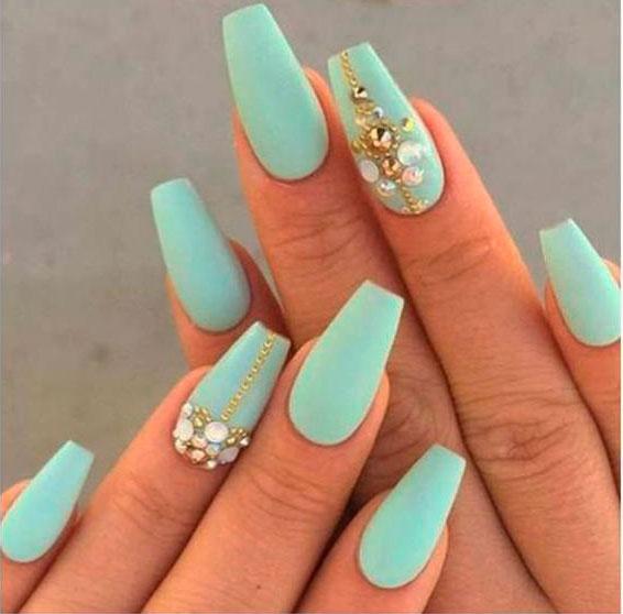 medium length square nails