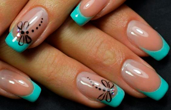 best neon mint nail polish images