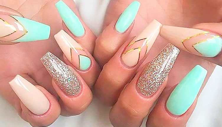 colorful coffin nails