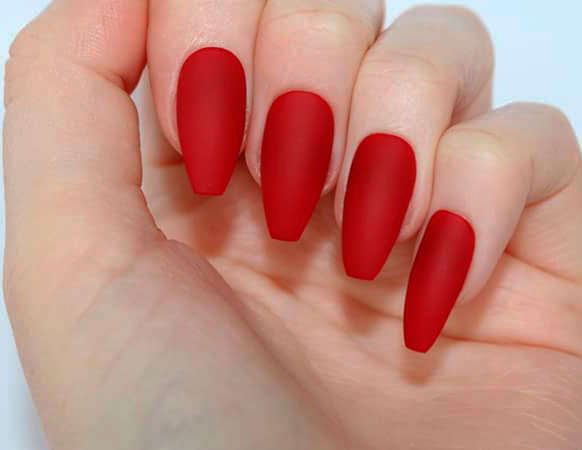 red  nail designs images