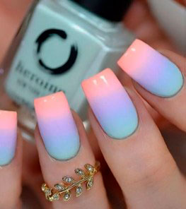 This gradient nail art looks amazing on any nail length