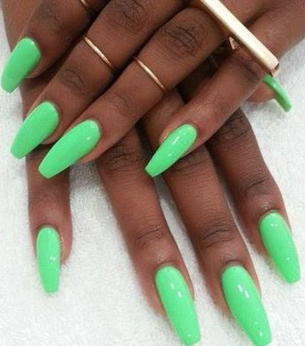 mint green nail polish design images
