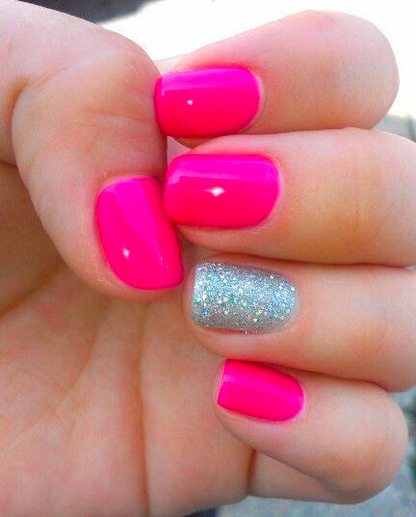 favorite bloggers' pink nail designs