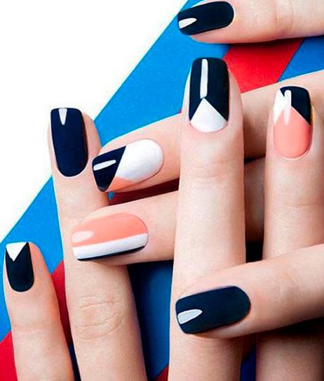 black color nail designs